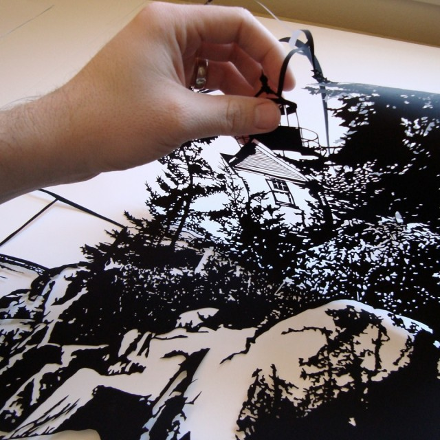 Black and White Hand cut paper in Joe 13