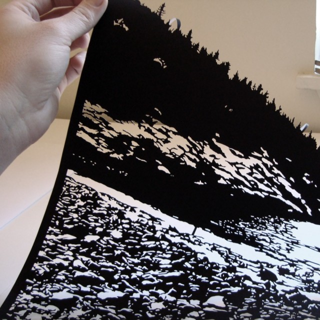 Black and White Hand cut paper in Joe 2