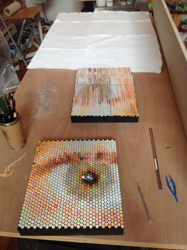 Bubble Wrap Injection Paintings Bradley Hart 10