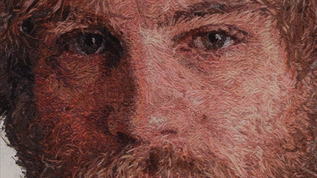 Embroidered portraits Cayce Zavaglia