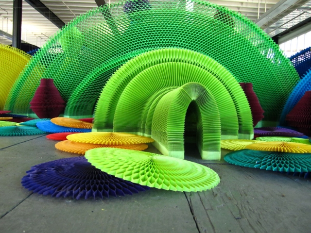 flexible honeycomb paper sculptures  Li Hongbo 13