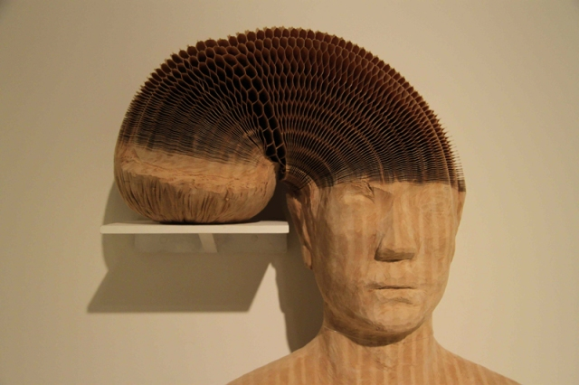 flexible honeycomb paper sculptures  Li Hongbo