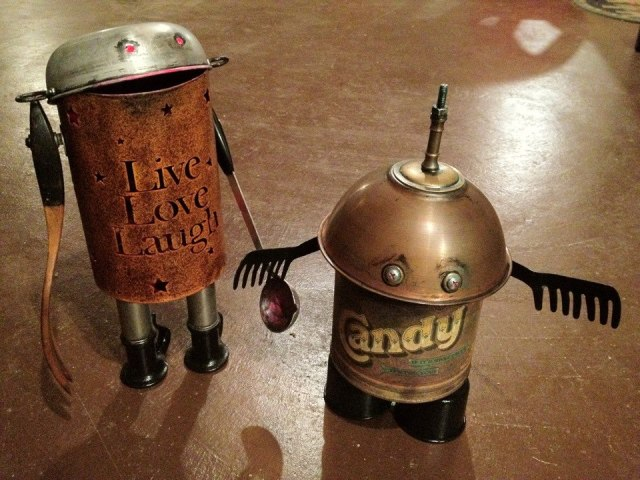 funny characters made with metal object Thomas Shelton 13