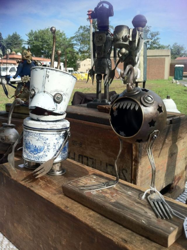 funny characters made with metal object Thomas Shelton 17