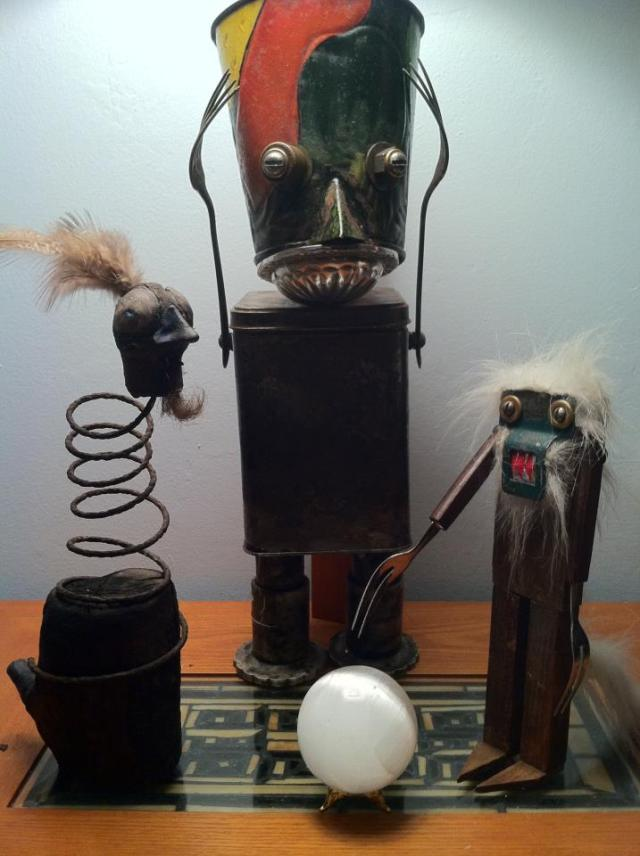 funny characters made with metal object Thomas Shelton 19
