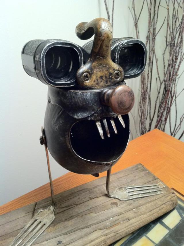 funny characters made with metal object Thomas Shelton 26
