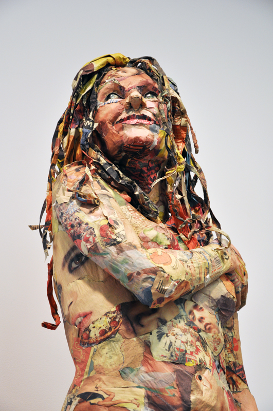 incredible newspaper sculptures Will Kurtz 12