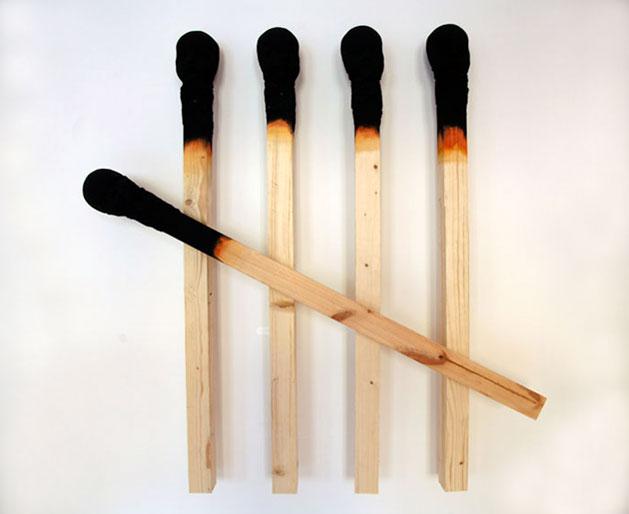 Matchstickmen Giant Matchsticks with eerie Human Faces Wolfgang Stiller 11