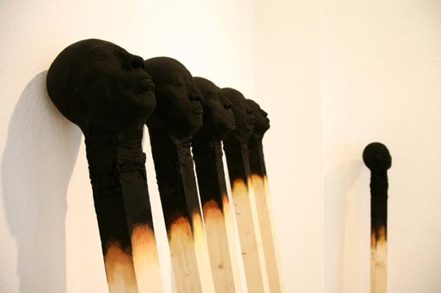 Matchstickmen Giant Matchsticks with eerie Human Faces Wolfgang Stiller 2