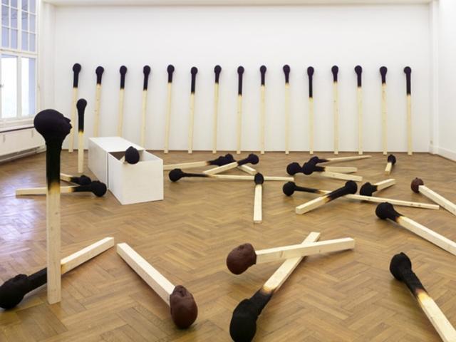 Matchstickmen Giant Matchsticks with eerie Human Faces Wolfgang Stiller 3