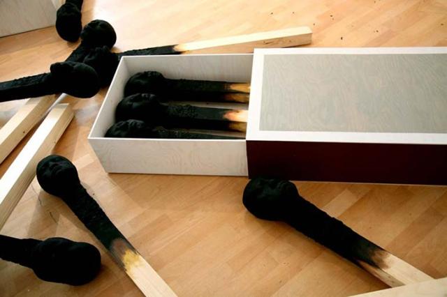Matchstickmen Giant Matchsticks with eerie Human Faces Wolfgang Stiller 6