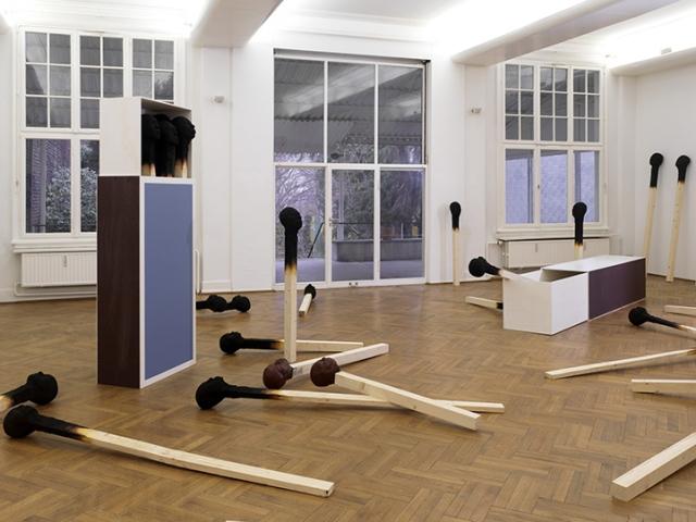 Matchstickmen Giant Matchsticks with eerie Human Faces Wolfgang Stiller 7