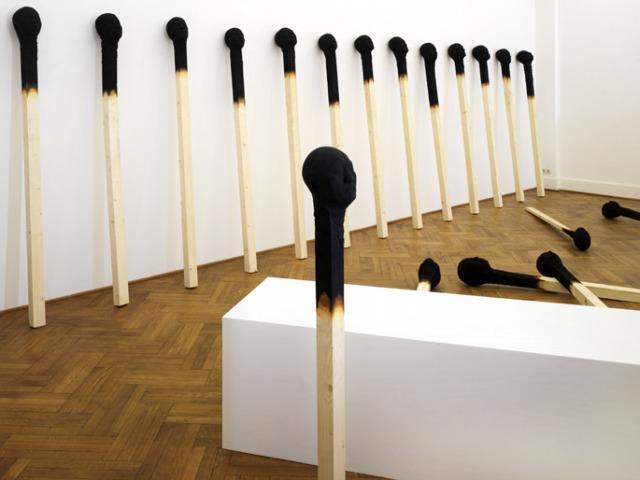 Matchstickmen Giant Matchsticks with eerie Human Faces Wolfgang Stiller 9