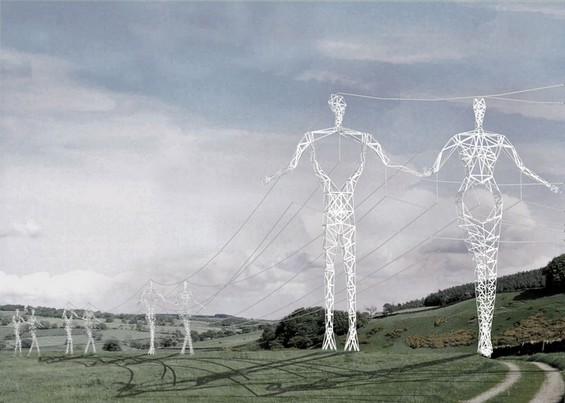 Metal Giants Carrying Power Lines Choi Shine 5