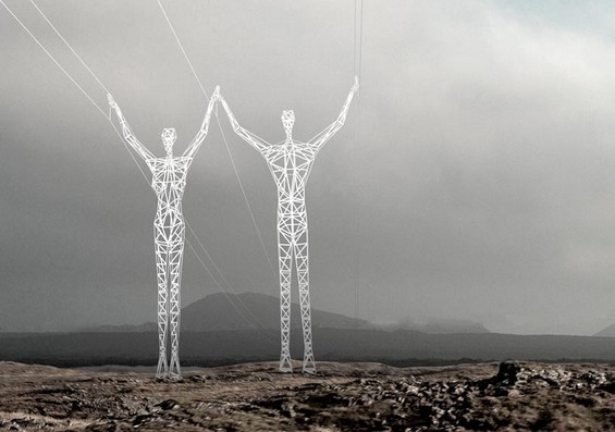 Metal Giants Carrying Power Lines Choi Shine 7