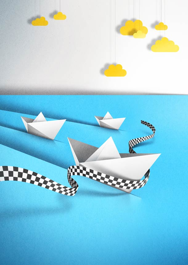 new paper cut illustration eiko ojala 14