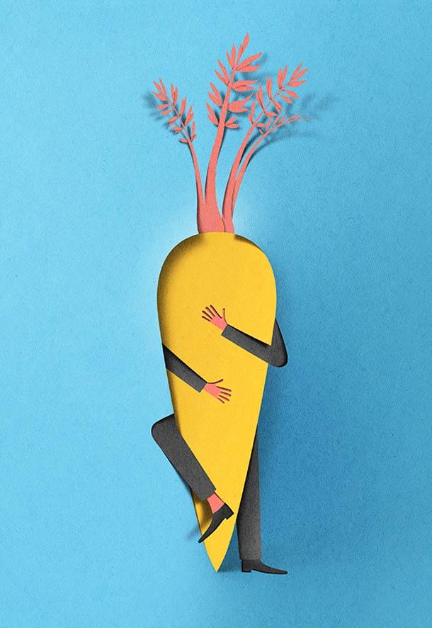 new paper cut illustration eiko ojala 6