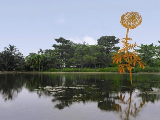 Steel Flowers and Trees Sculptures Zadok Ben David 11