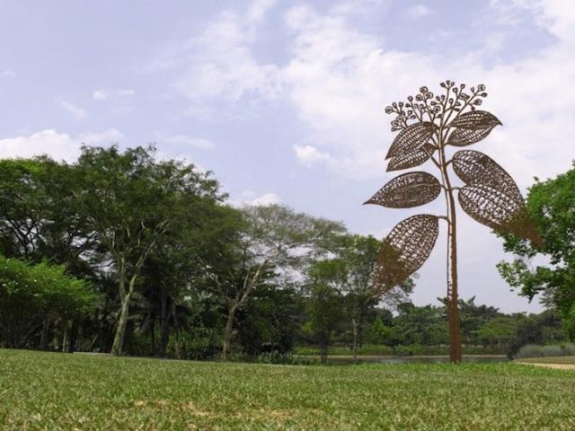 Steel Flowers and Trees Sculptures Zadok Ben David 12