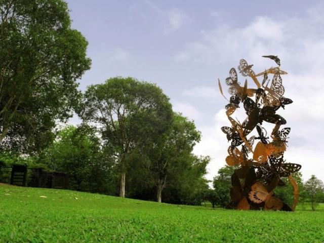 Steel Flowers and Trees Sculptures Zadok Ben David 13