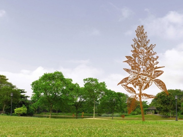 Steel Flowers and Trees Sculptures Zadok Ben David 14
