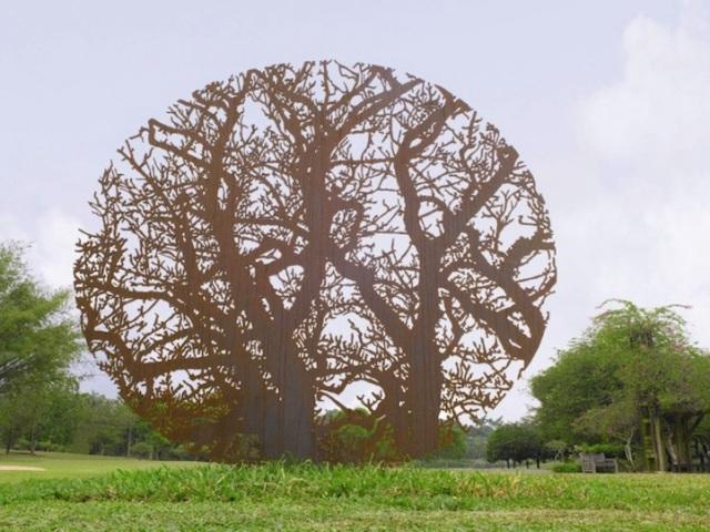 Steel Flowers and Trees Sculptures Zadok Ben David 2