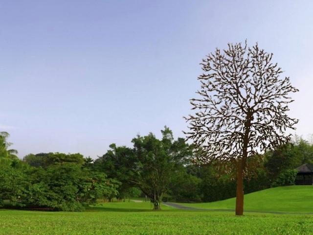 Steel Flowers and Trees Sculptures Zadok Ben David 3