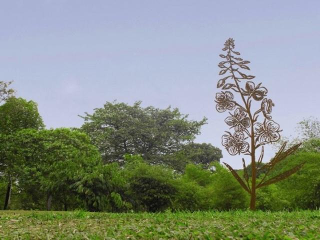 Steel Flowers and Trees Sculptures Zadok Ben David 4