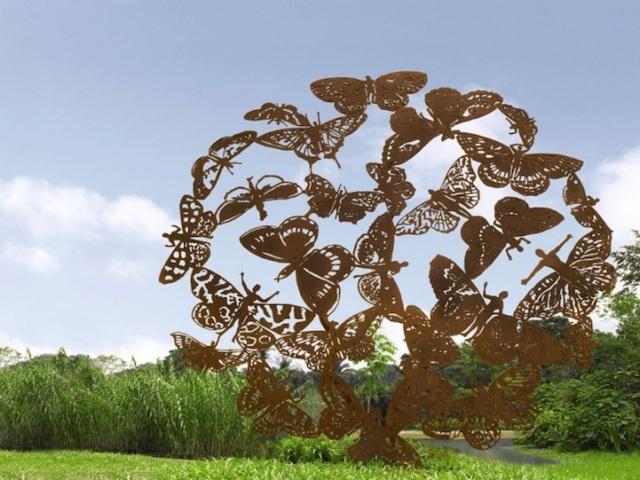 Steel Flowers and Trees Sculptures Zadok Ben David 6