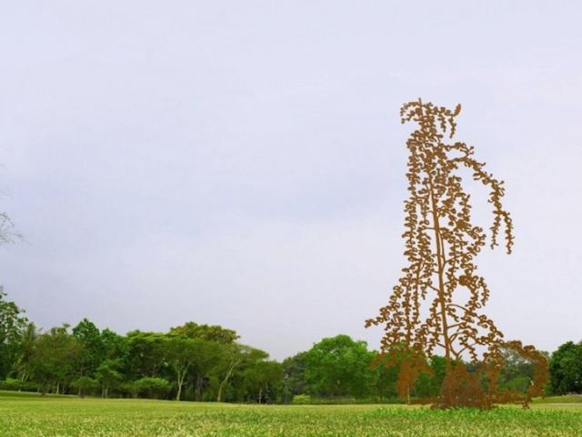 Steel Flowers and Trees Sculptures Zadok Ben David 8