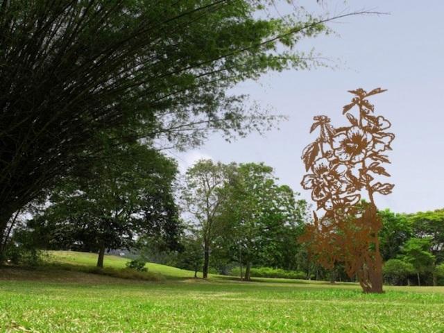 Steel Flowers and Trees Sculptures Zadok Ben David 9