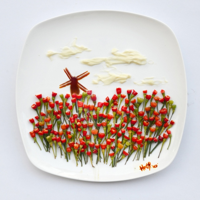 Art on the Plate Hong Yi RED 9