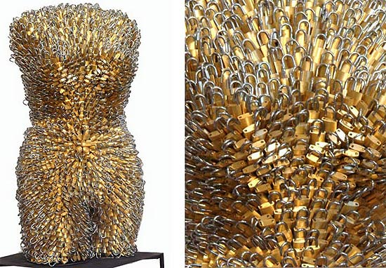Female Torsos Made Out of Unusual Materials Federico Uribe 11