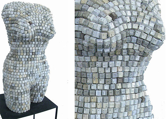 Female Torsos Made Out of Unusual Materials Federico Uribe 7