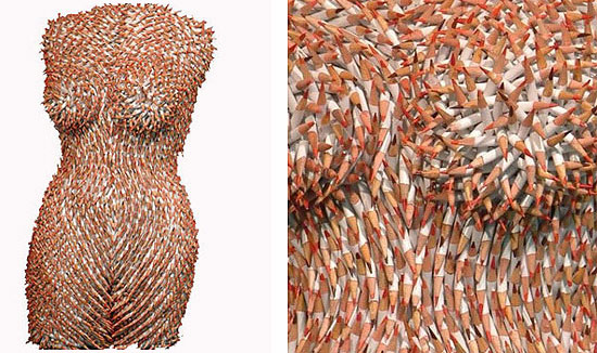 Female Torsos Made Out of Unusual Materials Federico Uribe