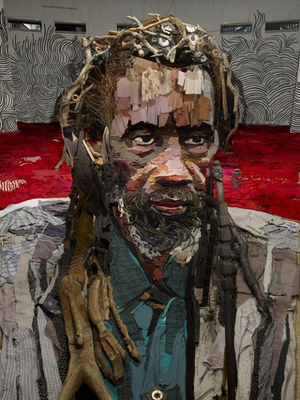 massive anamorphic portrait Bernard Pras