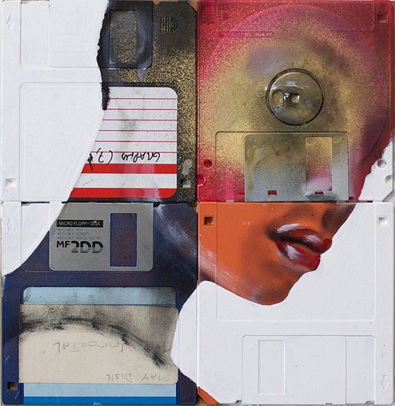 New Floppy disk portraits Nick Gentry 10