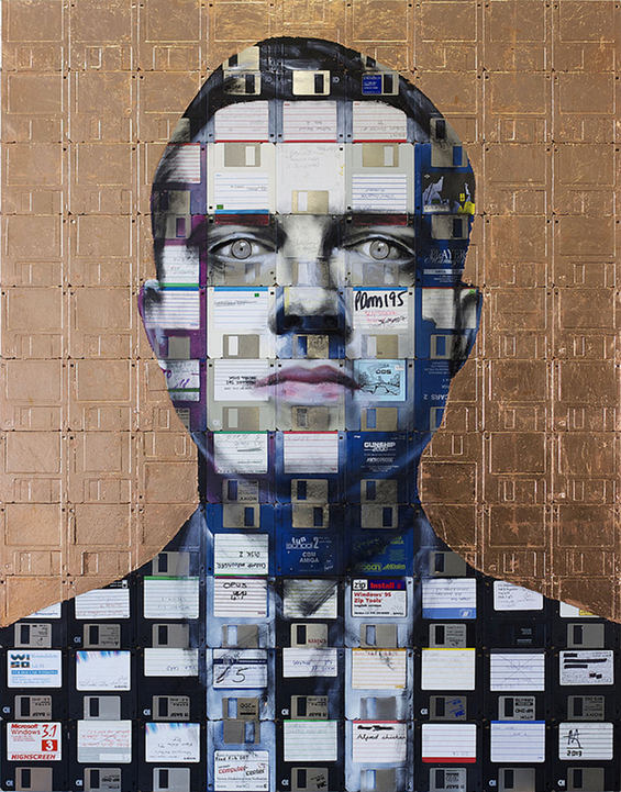 New Floppy disk portraits Nick Gentry 3
