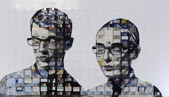 New Floppy disk portraits Nick Gentry 4
