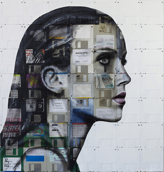 New Floppy disk portraits Nick Gentry 6