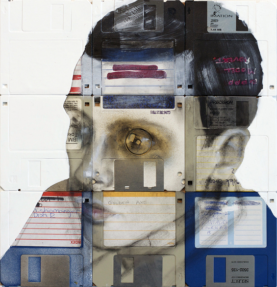 New Floppy disk portraits Nick Gentry 8