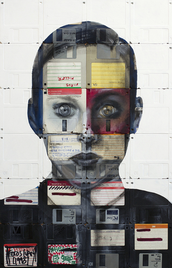 New Floppy disk portraits Nick Gentry 9