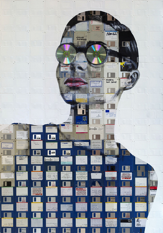New Floppy disk portraits Nick Gentry