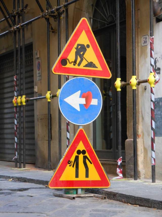 urban cartoons Clet 8