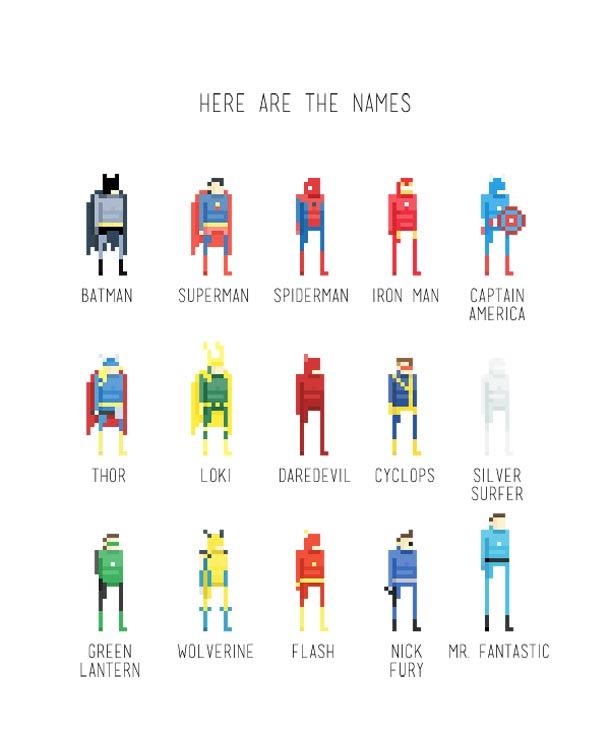 8 bit superheroes Ercan Akkaya 18