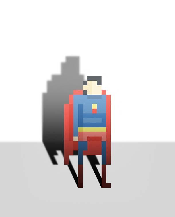 8 bit superheroes Ercan Akkaya 8