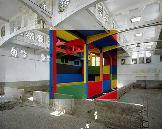 Architectural Anamorphic Illusions Georges Rousse 8