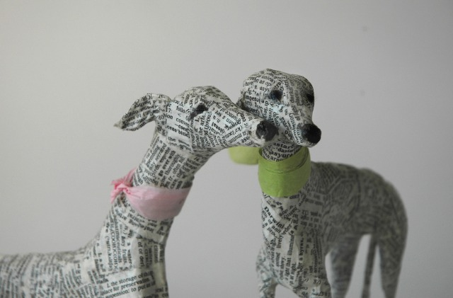 Dogs paper mache Lorraine Corrigan 11
