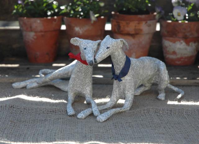 Dogs paper mache Lorraine Corrigan 14