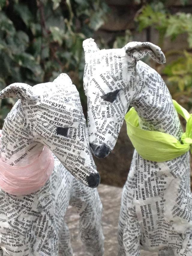 Dogs paper mache Lorraine Corrigan 16